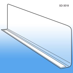 Econo-Line Adhesive Mount Shelf Divider, SD-3018