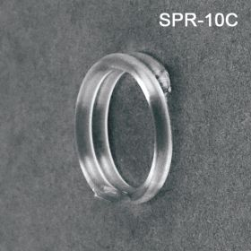 Clear spiral ring sign and swatch holder, SPR-10C