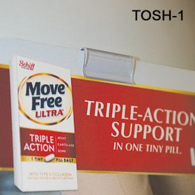 """Inexpensive 1"""" Peel N Stick Sign Holder - Wall Mount, TOSH-1"""