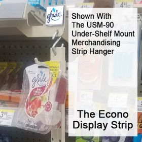 Easy to Set-Up, NO TOOLS Needed.Two-Sided Peg Hook Display Strips, EPHDS-Series