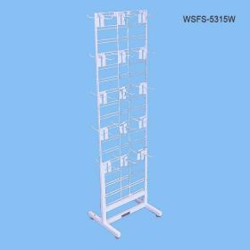 white metal wire stalgrid display rack, WSFS-5315W