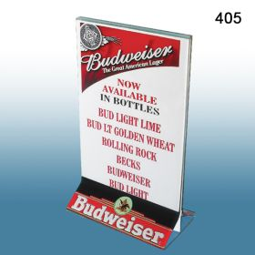 """T-Style Top Loading 5"""" x 7"""" Acrylic Sign Holder, 405"""
