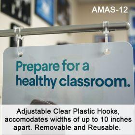 Metal Fixture adjustable  Sign Holder, AMAS-12