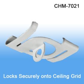 White Metal Twist Ceiling Loop - Drop Ceiling  Hanging Accessories, CHM-7021