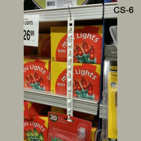 Clip Strip® Merchandising Strip with Tape, Hang with a Hook, CS-6