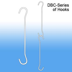 Double C Hook | Ceiling and Window Sign Hanging, 6 inches, DBC-6