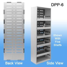 Corrugated Power Panel Display with Adjustable Shelves & Peg Hook Slots - Merchandise Display, DPP-6
