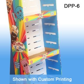 Stock Corrugated Power Panel Tray, with Adjustable Shelving to Fit Your Product, Retail Floor Display with Custom Printing, DPP-6