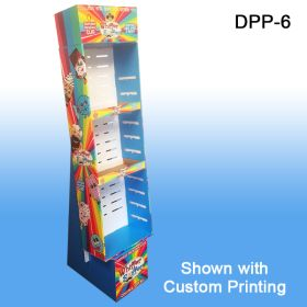 Stock Corrugated Power Panel Tray, with Adjustable Shelves, Retail Floor Display with Custom Printing, DPP-6