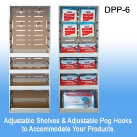 Stock Corrugated Power Panel Tray, with Adjustable Shelves, Retail Display, DPP-6