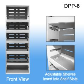 Corrugated Power Panel Tray, with Adjustable Shelves, DPP-6