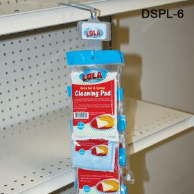 The DSPL-6 Double sided plastic Clip Strip will accommodate many different products. Includes Hanger