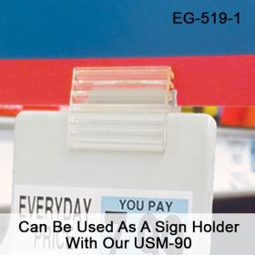 EG-519-3 Can Be Used As A Sign Holder Wth Our USM-90. EG-519-1