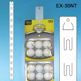 "30"" die cut flat plastic clip strip® brand merchandising strip, EX-30NT, 12 hooks"