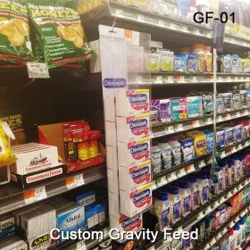 Clear Gravity Feed Designed For Your Product, GF-01