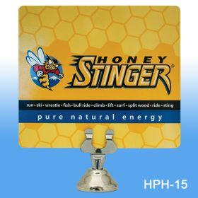 """Chrome Harp Clip Sign Holder, 1.5"""" Stem, HPH-15"""