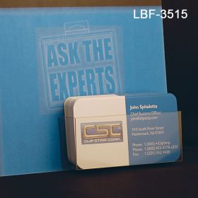 Flat Peel & Stick Literature Holder, Business Cards, Item# LBF-3515