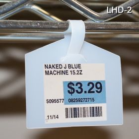 tag label holder with UPC label, LHD-2