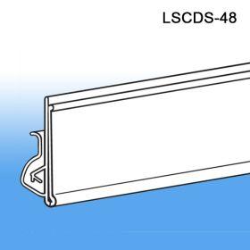 Label & Sign Holder Clip On Channel Strip, LSCDS-48