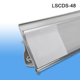 "Label & Sign Holder Data Channel Strip, Clips-Under, 1.25"" H x 48"" L, LSCDS-48"
