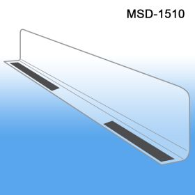 "1"" x 9-9/16"" Econo-Line Shelf Divider, SD-1510, Magnetic Mount"