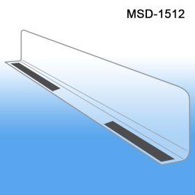 """1"""" x 11-9/16"""" Econo-Line Shelf Divider, MSD-1512, Magnetic Mount"""