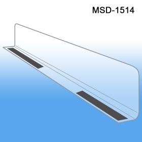 "1"" x 13-9/16"" Econo-Line Shelf Divider, MSD-1514, Magnetic Mount"