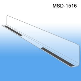 "1"" x 15-9/16"" Econo-Line Shelf Divider, MSD-1516, Magnetic Mount"
