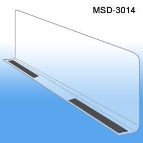 "3"" x 13-9/16"" Econo-Line Shelf Divider, Magnetic Mount, MSD-3014"