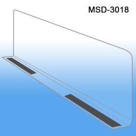 "3"" x 17-9/16"" Econo-Line Shelf Divider, Magnetic Mount, MSD-3018"