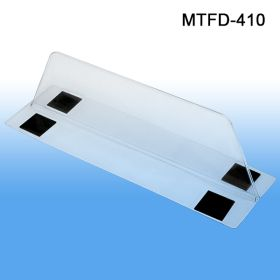 "3"" wide base, 3"" tall x 10"" deep Thermo Formed Magnetic Based Shelf Divider, Item# MTFD-410"