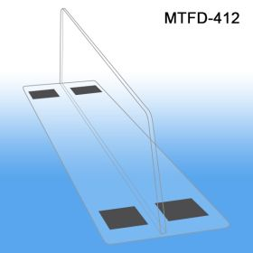 """3"""" HIGH x 12"""" LONG Thermo Formed Shelf Divider, MTFD-412, 3"""" wide base, magnetic mounting"""