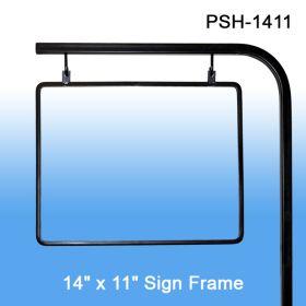 Pallet Sign Holder, Adjustable Height, holds 14x11 sign, PSH-1411
