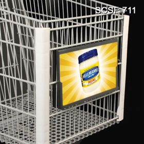 Shopping Cart Sign Frame. easy to Change-Out Signs SCSF-711