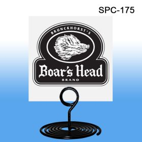 "1-3/4"" Tall Spiral Base Countertop Signage Holder, Black, SPC-175"
