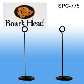 "Spiral Base Card Sign Holder, Black, 7"" Tall, SPC-775"