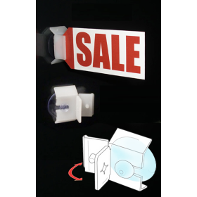 Window & Glass Door Suction Cup Flag Sign Holder, Item# SPSC-607