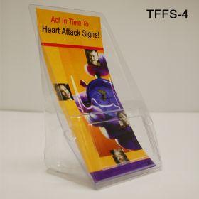 Inexpensive Plastic Literature Holders - Brochure Display, TFFS-4