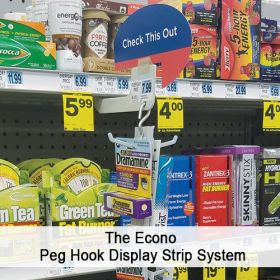 The Econo Peg Hook Display Strip System