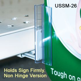 Easy to Mount, Under Shelf Spring-Mount Grip-Tite™ Sign Holder, USSM-26