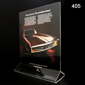 """5"""" x 7"""" T-Style Top Loading Acrylic Sign Holder, 405"""