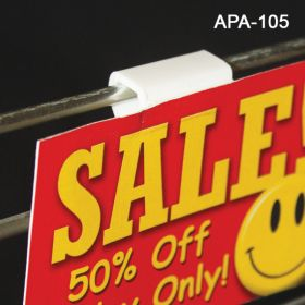 Wire Display sign holder, with Peal & Stick, APA-105