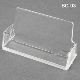Business Card Holder - Molded Strong Clear Acrylic Plastic, BC-93