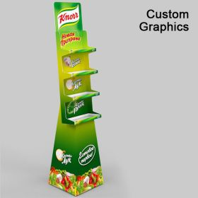 Cheap  Corrugated Floor Display, with Custom Graphics, CCFD-100