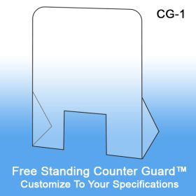 Free Standing CounterGuard™ Protective Clear Acrylic Shield, CG-1