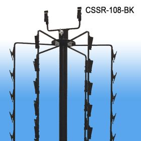 Black Floor Standing Clipper Spinner Display, 108 Clips, CSSR-108-BK