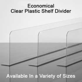 Clip Strip® Clear Plastic Shelf Divider, SD-Series