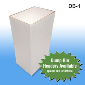 Small Corrugated Dump Bin Display can hold a variety of products, DB-1