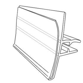 Reusable, Data-Tag™ Label Holder for 4 to 5 Gauge Metal Scan Hooks, DTL-95-45