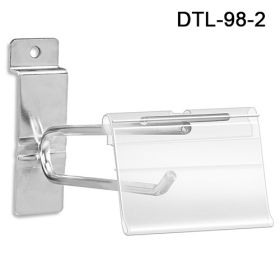 Label Holder for T-Scan Style Metal Display Hook, DTL-98-2